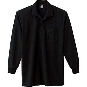T/C長袖ポロシャツ ポケット付き 00169−VLP 005 ブラック SS〜LL