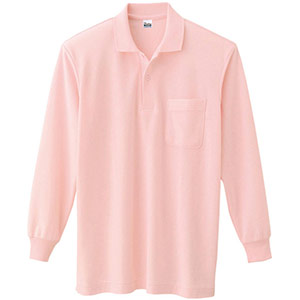 T/C長袖ポロシャツ ポケット付き 00169−VLP 011 ピンク SS〜5L