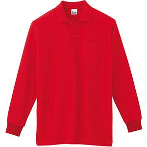 T/C長袖ポロシャツ ポケット付き 00169−VLP 010 レッド SS〜LL