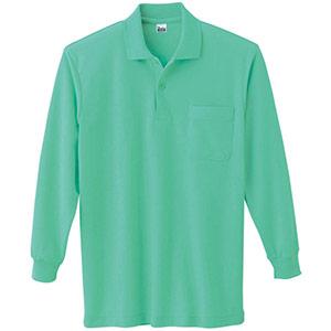 T/C長袖ポロシャツ ポケット付き 00169−VLP 026 ミントグリーン SS〜LL