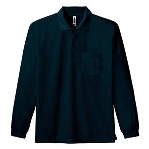 ドライ長袖ポロシャツ ポケット付き 00335−ALP 005 ブラック SS〜5L