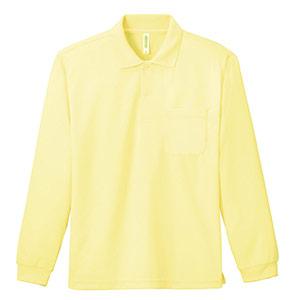 ドライ長袖ポロシャツ ポケット付き 00335−ALP 134 ライトイエロー SS〜5L