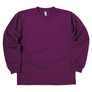 ドライロングスリーブTシャツ 00304−ALT 014 パープル SS〜5L