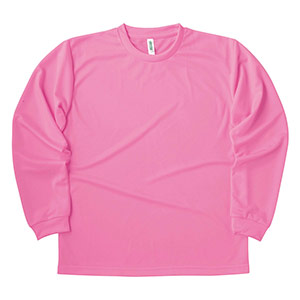 ドライロングスリーブTシャツ 00304−ALT 011 ピンク SS〜5L
