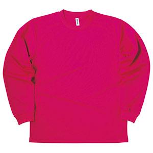 ドライロングスリーブTシャツ 00304−ALT 146 ホットピンク SS〜5L