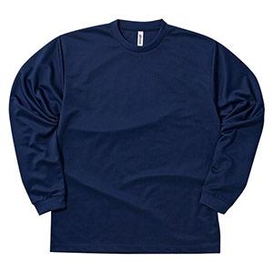 ドライロングスリーブTシャツ 00304−ALT 031 ネイビー SS〜5L
