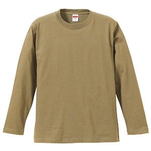 5.6oz ロングスリーブ Tシャツ 5010−01 537 サンドカーキ