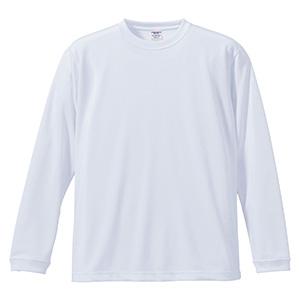 4.7oz ドライシルキータッチ ロングスリーブTシャツ(ローブリード) 5089−01 001 ホワイト