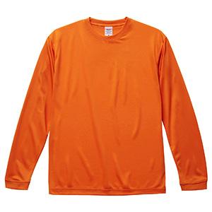4.7oz ドライシルキータッチ ロングスリーブTシャツ(ローブリード) 5089−01 064 オレンジ