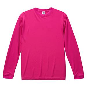 4.7oz ドライシルキータッチ ロングスリーブTシャツ(ローブリード) 5089−01 511 トロピカルピンク