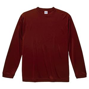 4.7oz ドライシルキータッチ ロングスリーブTシャツ(ローブリード) 5089−01 072 バーガンディ