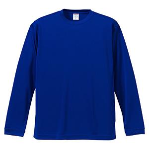 4.7oz ドライシルキータッチ ロングスリーブTシャツ(ローブリード) 5089−01 084 コバルトブルー