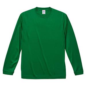 4.7oz ドライシルキータッチ ロングスリーブTシャツ(ローブリード) 5089−01 029 グリーン