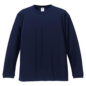 4.7oz ドライシルキータッチ ロングスリーブTシャツ(ローブリード) 5089−01 086 ネイビー