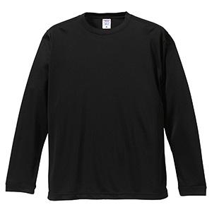 4.7oz ドライシルキータッチ ロングスリーブTシャツ(ローブリード) 5089−01 002 ブラック