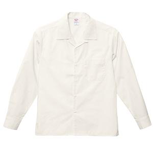 T/C オープンカラー ロングスリーブ シャツ 1760−01 003 オフホワイト