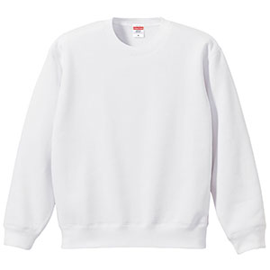 10.0oz T/C クルーネック スウェット(裏起毛) 5928−01 001 ホワイト