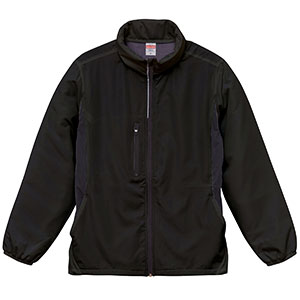 マイクロリップストップ フードイン ジャケット(裏フリース) 7069−01 002 ブラック