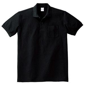 T/Cポロシャツ ポケット付き 00100−VP 005 ブラック SS〜5L