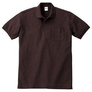 T/Cポロシャツ ポケット付き 00100−VP 168 チョコレート SS〜5L