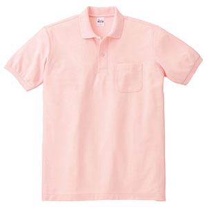 T/Cポロシャツ ポケット付き 00100−VP 011 ピンク SS〜5L