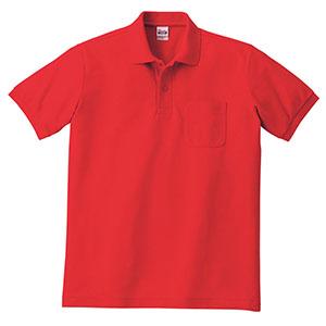 T/Cポロシャツ ポケット付き 00100−VP 010 レッド SS〜5L