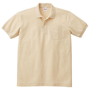 T/Cポロシャツ ポケット付き 00100−VP 106 ナチュラル SS〜LL
