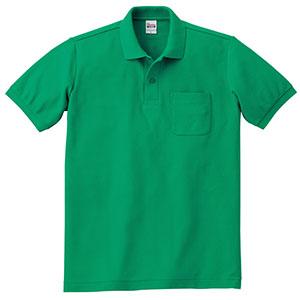T/Cポロシャツ ポケット付き 00100−VP 025 グリーン SS〜5L