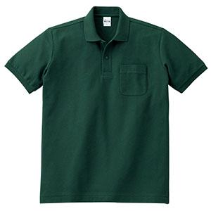 T/Cポロシャツ ポケット付き 00100−VP 131 フォレスト SS〜LL