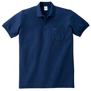 T/Cポロシャツ ポケット付き 00100−VP 031 ネイビー SS〜LL