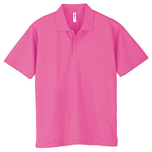 ドライポロシャツ ポケット無し 00302−ADP 011 ピンク SS〜LL