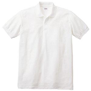 T/Cポロシャツ ポケット無し 00141−NVP 001 ホワイト SS〜5L