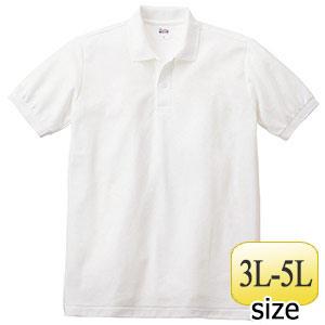 T/Cポロシャツ ポケット無し 00141−NVP 001 ホワイト 3L〜5L