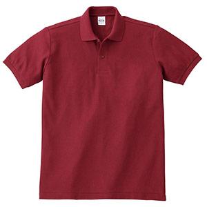 T/Cポロシャツ ポケット無し 00141−NVP 112 バーガンディ SS〜5L