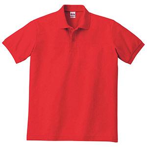 T/Cポロシャツ ポケット無し 00141−NVP 010 レッド SS〜5L