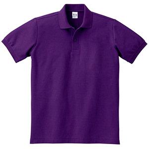 T/Cポロシャツ ポケット無し 00141−NVP 014 パープル SS〜5L