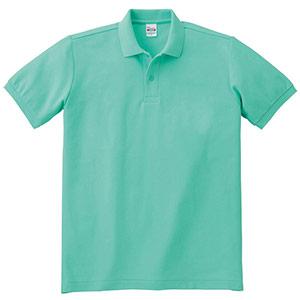 T/Cポロシャツ ポケット無し 00141−NVP 026 ミントグリーン SS〜LL