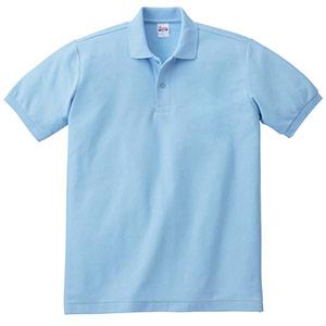 T/Cポロシャツ ポケット無し 00141−NVP 033 サックス SS〜LL