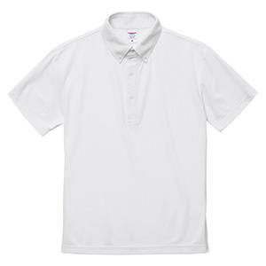 4.7oz スペシャル ドライ カノコ ポロシャツ(ボタンダウン)(ローブリード) 2022−01 001 ホワイト
