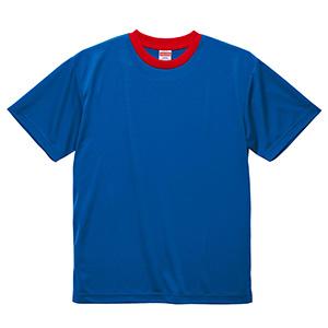 4.1oz ドライアスレチックTシャツ <アダルト> 5900−01 4750 コバルトブルー/レッド
