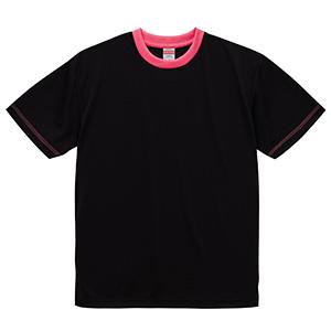 4.1oz ドライアスレチックTシャツ <アダルト> 5900−01 2065 ブラック/トロピカルピンク