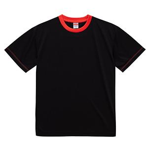 4.1oz ドライアスレチックTシャツ <アダルト> 5900−01 2050 ブラック/レッド
