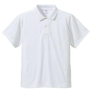 4.1oz ドライアスレチックポロシャツ 5910−01 001 ホワイト