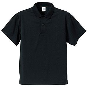 4.1oz ドライアスレチックポロシャツ 5910−01 002 ブラック