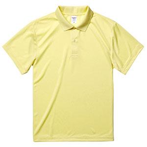 4.1oz ドライアスレチックポロシャツ 5910−01 487 ライトイエロー