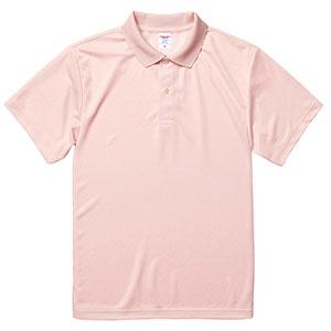 4.1oz ドライアスレチックポロシャツ 5910−01 576 ベビーピンク