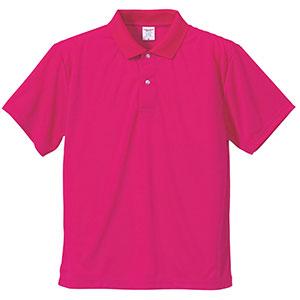 4.1oz ドライアスレチックポロシャツ 5910−01 511 トロピカルピンク