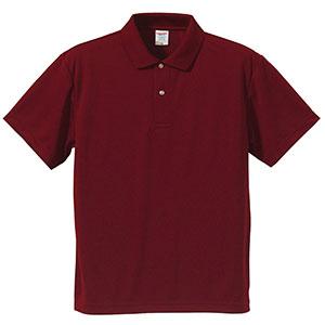 4.1oz ドライアスレチックポロシャツ 5910−01 072 バーガンディ