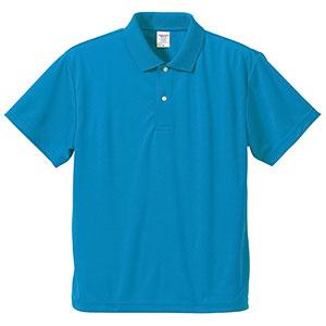 4.1oz ドライアスレチックポロシャツ 5910−01 538 ターコイズブルー