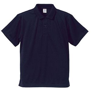 4.1oz ドライアスレチックポロシャツ 5910−01 086 ネイビー